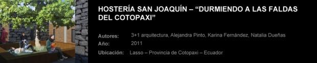 """HOSTERÍA-SAN-JOAQUÍN-–-""""DURMIENDO-A-LAS-FALDAS-DEL-COTOPAXI"""""""